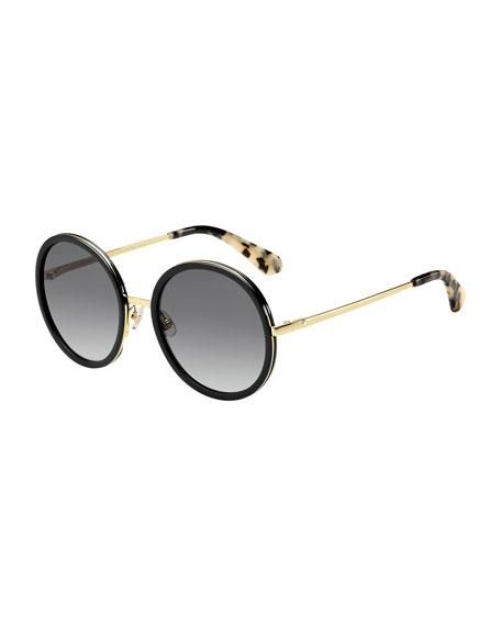 lamonica round sunglasses, black