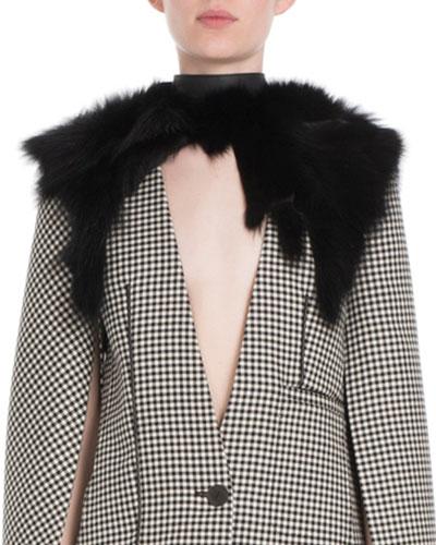 Fox Fur Collar w/ Leather Buckle