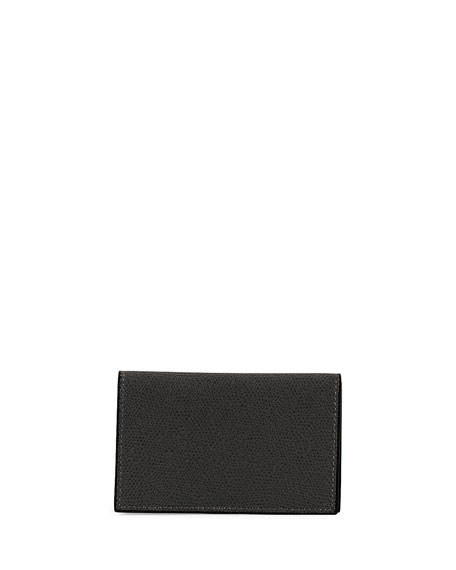 Image 1 of 1: Saffiano Pebbled Business Card Case