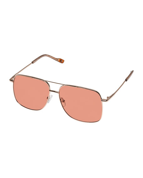 Image 1 of 1: Equilateral Aviator Metal Sunglasses