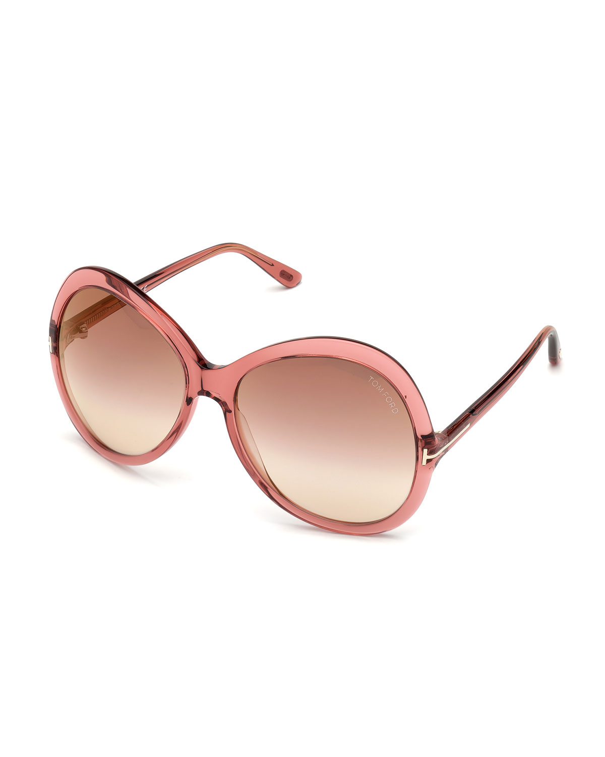 Tom Ford Sunglasses Rose Gradient Acetate Round Sunglasses