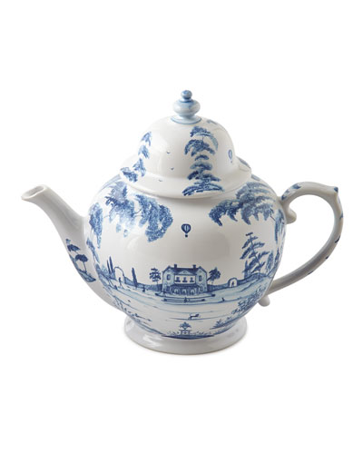 Country Estate Delft Blue Teapot Main House