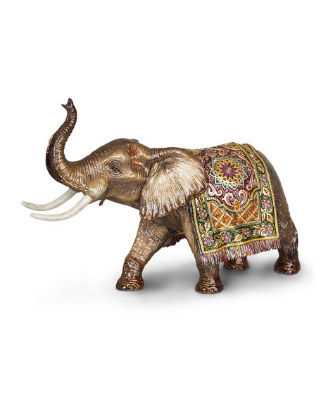 Image 1 of 1: Tapestry Large Elephant Figurine