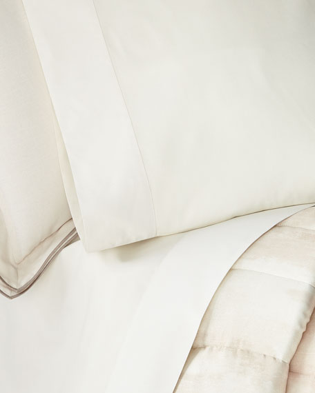 Striated Band King Pillowcases, Set of 2