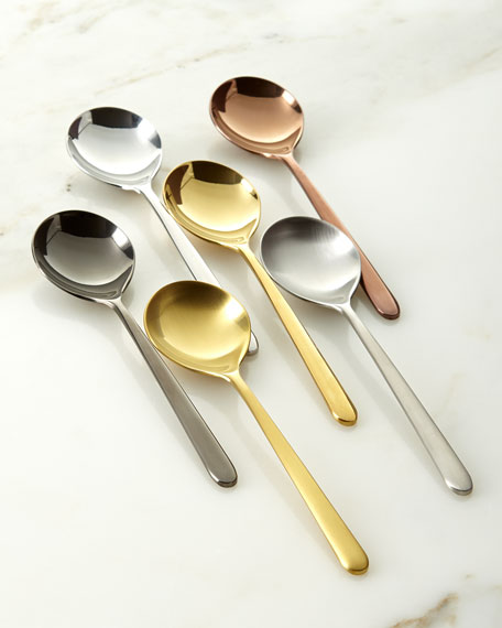 Image 1 of 1: Due Assorted Coffee Spoons, Set of 6