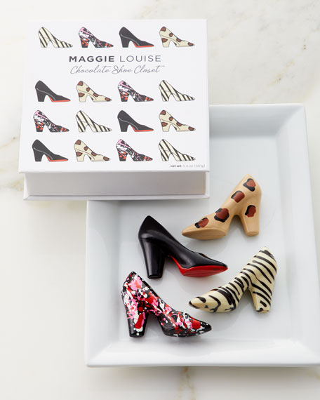 Image 1 of 1: Chocolate Shoe Closet Gift Box