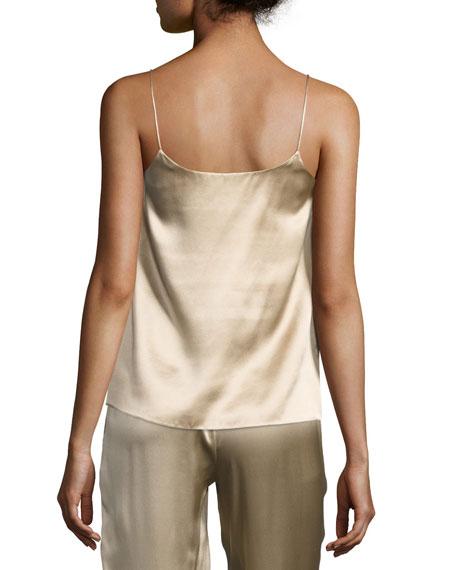 Silk Satin V-Neck Camisole Top