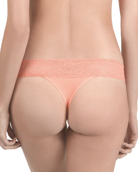 Bliss Perfection Lace-Trimmed Thong