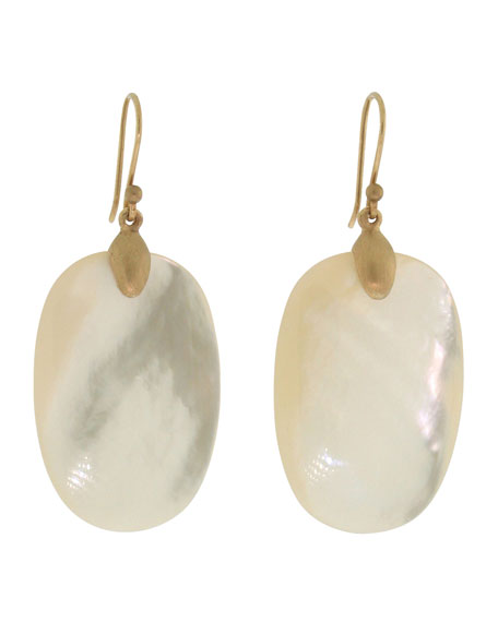 Large Mother-of-Pearl Chip Earrings