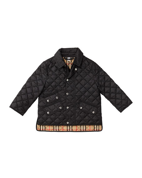 Brennan Quilted Snap Jacket, Size 3-14