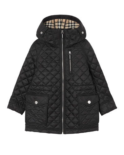 Trey Long Quilted Coat  Size 3-14