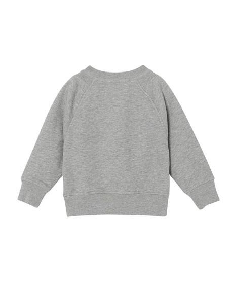 Derick Embossed Logo Sweatshirt, Size 6M-2