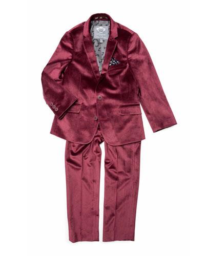 Boys' Velvet Two-Piece Mod Suit  2-10