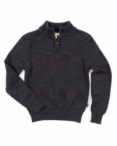 Boy's Mock-Neck Quarter-Zip Sweater  Size 2-10