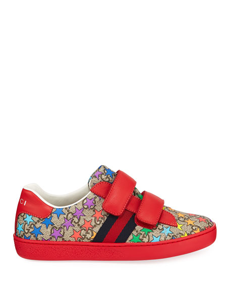 New Ace GG Supreme Rainbow Star-Print Sneakers, Toddler/Kids