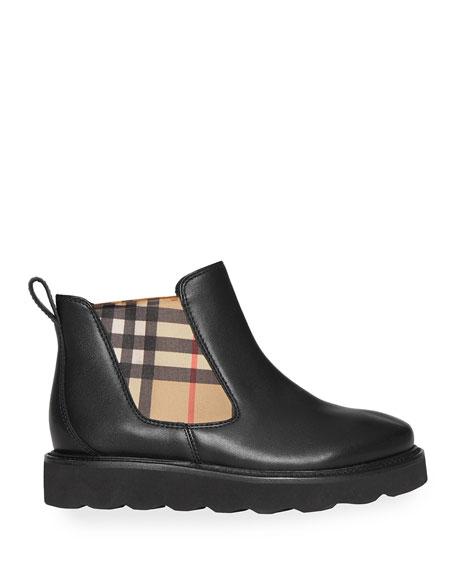 Hayden Check-Insert Chelsea Boots, Toddler/Kids