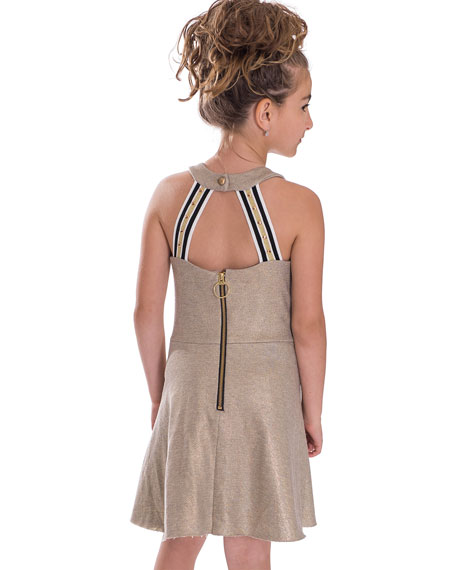 Last Dance Foil-Print Dress, Size 7-16