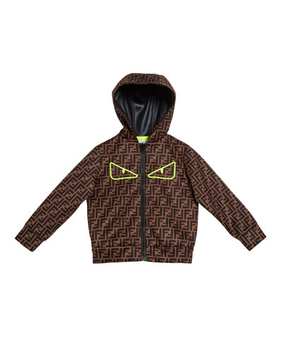 FF-Print Monster Eyes Hooded Jacket  Size 4-8
