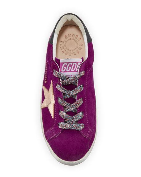 Girl's Superstar Suede Metallic Star Sneakers, Toddler/Kids