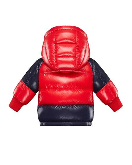 Biarriz Two-Tone Shiny Puffer Coat, Size 12M-3