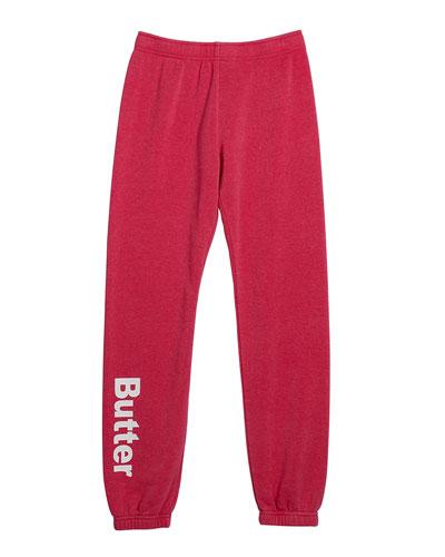 Girl's Mineral Wash Varsity Jogger Pants  Size S-XL