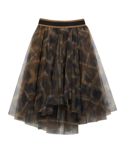 Girl's Printed Tulle A-Line Skirt  Size 12