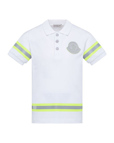 Boy's Maglia Polo Shirt w/ Reflective Tape  Size 8-14