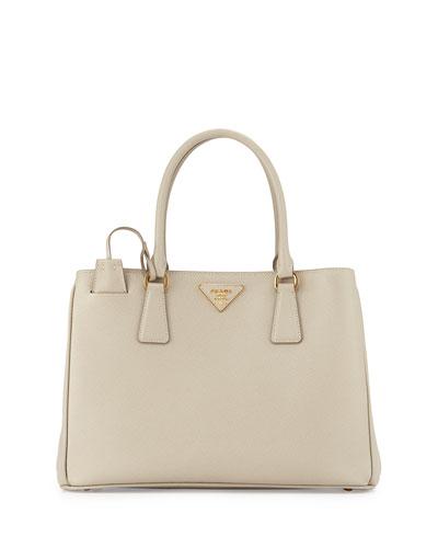 Saffiano Lady Tote Bag, Gray (Marmo)