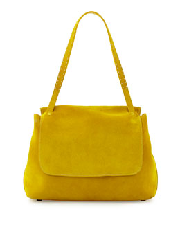 Sidekick Suede Flap-Top Shoulder Bag