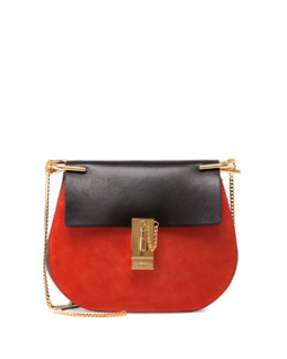 Drew Small Two-Tone Shoulder Bag