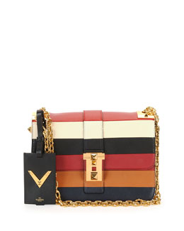 B-Rockstud Striped Shoulder Bag
