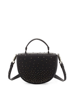 Panettone Spiked Messenger Bag, Black
