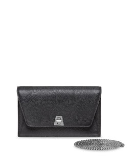 Anouck Pebbled Leather Envelope Clutch Bag