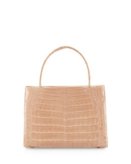 Wallis Small Crocodile Satchel Bag