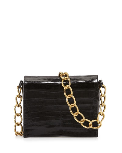 Small Crocodile Chain Shoulder Bag