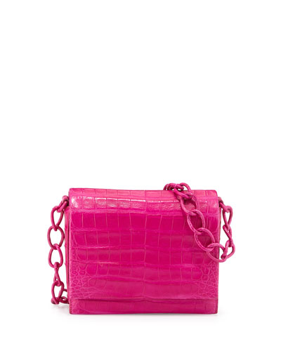 Small Crocodile Chain Crossbody Bag