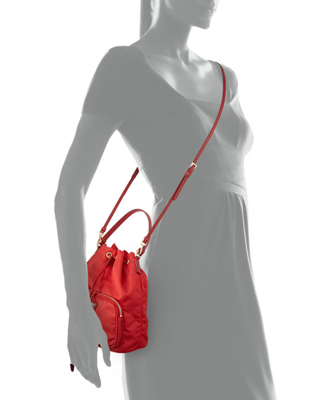 cd60065415e2c7 Prada Tessuto Mini Bucket Crossbody Bag