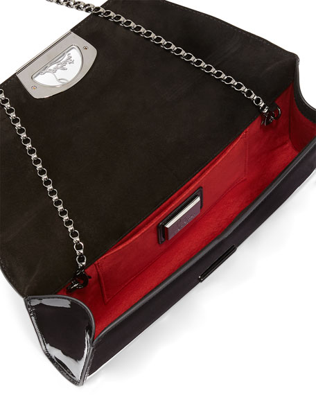 Vero Dodat Flap Patent Clutch Bag