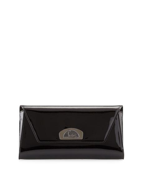 Christian Louboutin Vero Dodat Flap Patent Clutch Bag