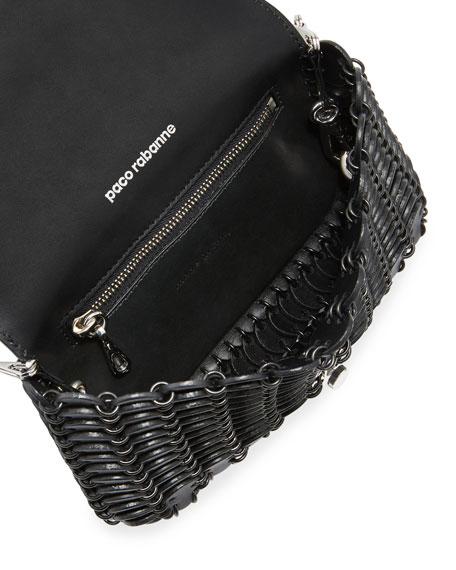 Small Python Shoulder Bag, Black