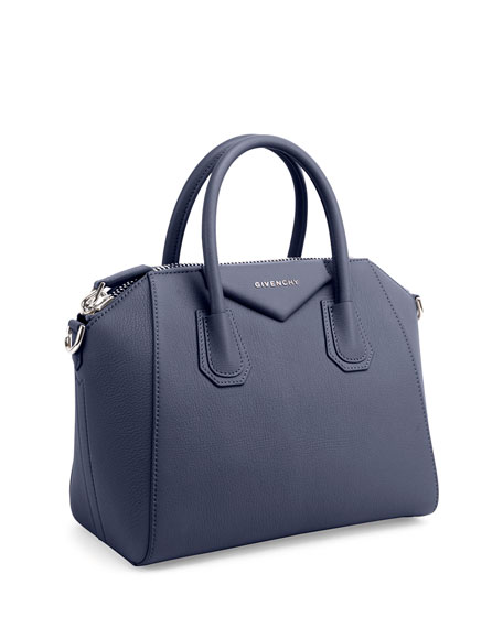 Antigona Small Sugar Satchel Bag, Night Blue