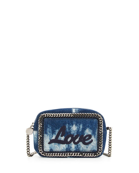 b2d37211f21 Stella McCartney Love Denim Crossbody/Clutch Bag, Blue
