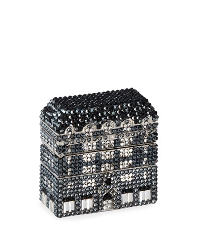 Crystal Bergdorf Goodman Storefront Pillbox, Silver/Multi