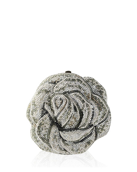 Judith Leiber Couture New Rose Crystal Clutch Bag,