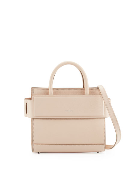 d91cc0a099 Givenchy Horizon Mini Grained Leather Tote Bag, Nude Pink