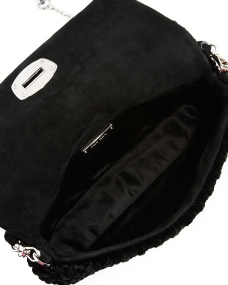 Crystal Borse Embellished Velvet Shoulder Bag
