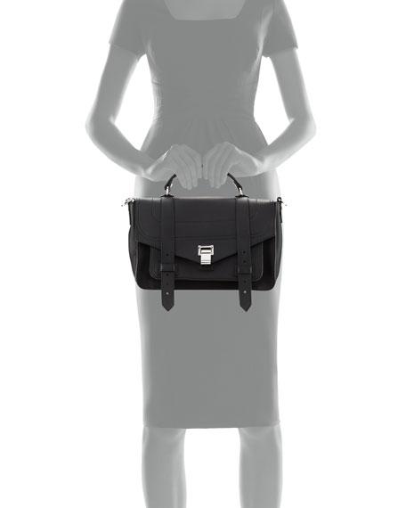 PS1 Medium Leather Satchel Bag, Black