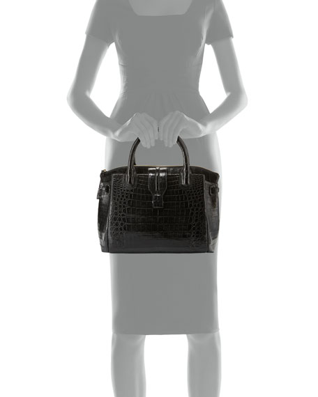 Cristina Medium Crocodile Tote Bag