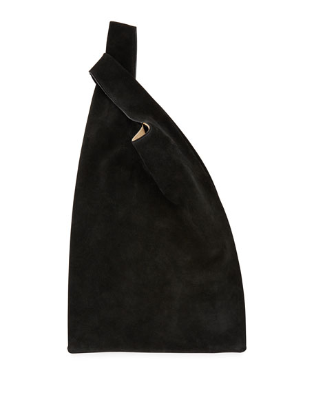 Suede Hayward Shopper Tote Bag, Black