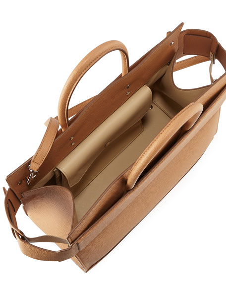 Horizon Medium Textured Leather Tote Bag